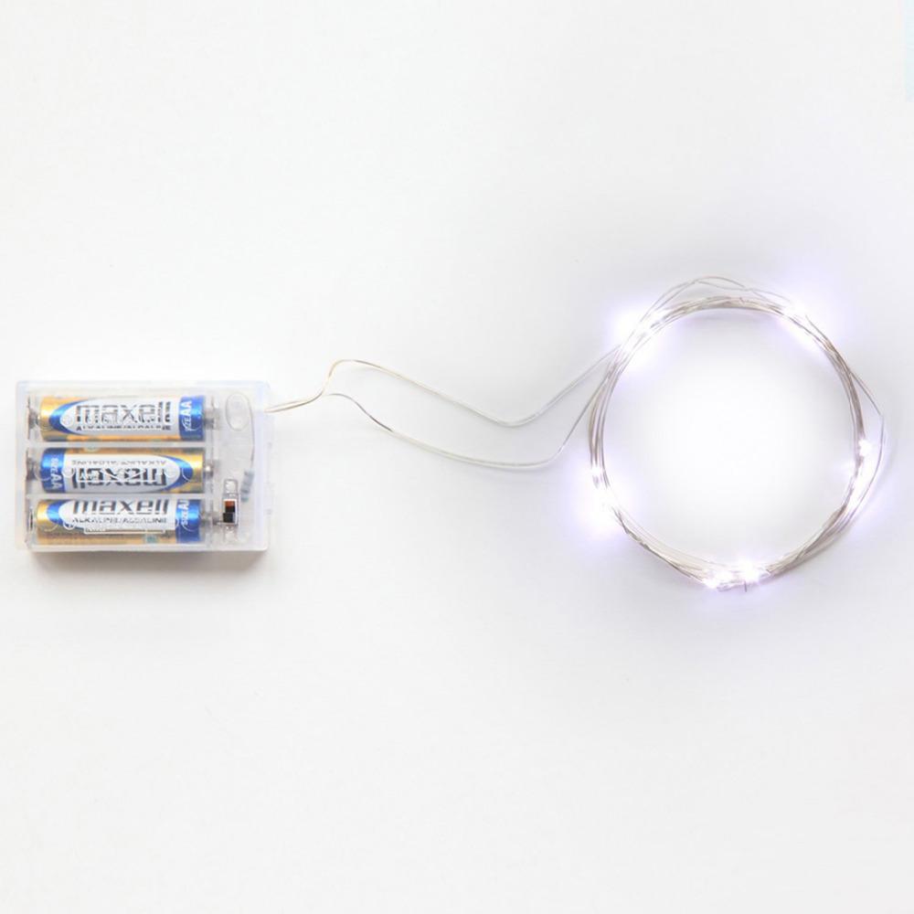 Battery Powered Led String Lights : 2M 20 led battery led string light 3pcs AA Battery Operated Fairy Party Wedding Christmas ...