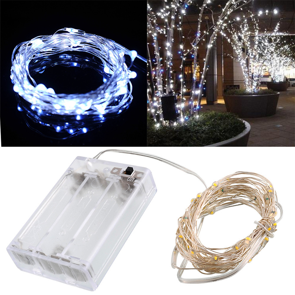 3m 10ft 30 Leds 5v String Silver Copper Wire Led Light 4