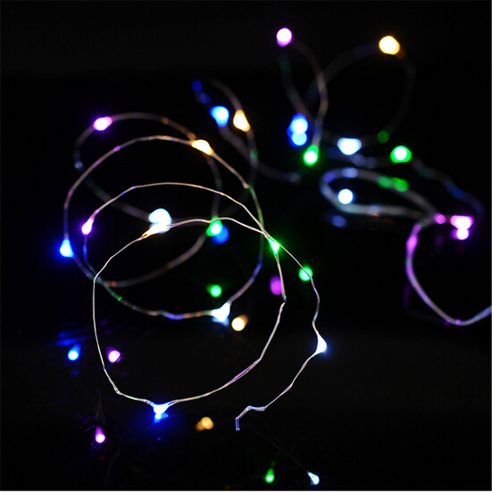 Thin Led String Lights : 3M 10FT 30 LEDS 5V string Silver Copper Wire LED light 4.5V Waterproof LED String light Holiday ...