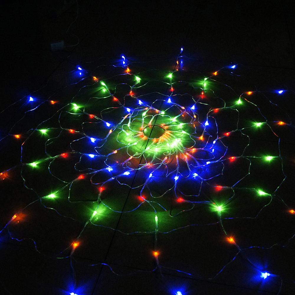 110v /220v Colorful RGB Spider LED Net Light with 120 LED ...