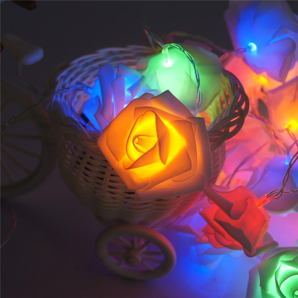 Battery Powered Holiday Lighting 20 X Led Novelty Rose