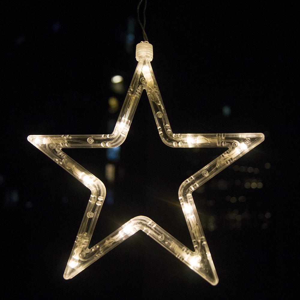 String Lights Stars : Stars LED Curtain Fairy String Lights Window Curtain Lamp Star Styled For Christmas, Parties ...