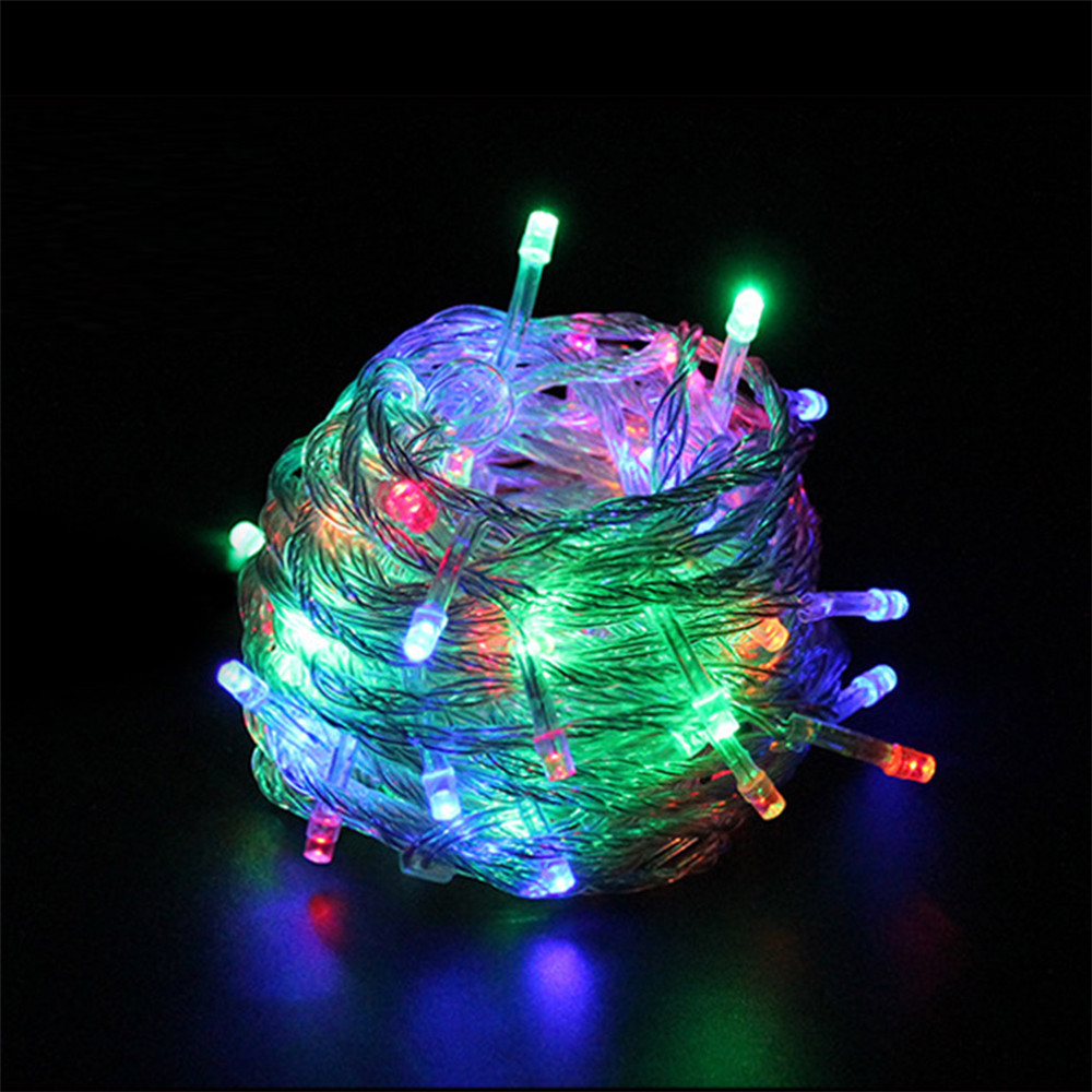 outdoor waterproof led string light 10m 100led ac110v or ac220v led christmas light with female. Black Bedroom Furniture Sets. Home Design Ideas