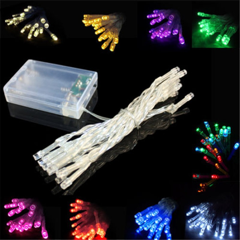Led Battery Light 3m 30leds Christmas String Lights Holiday Wedding Road Decoration Lamp Series