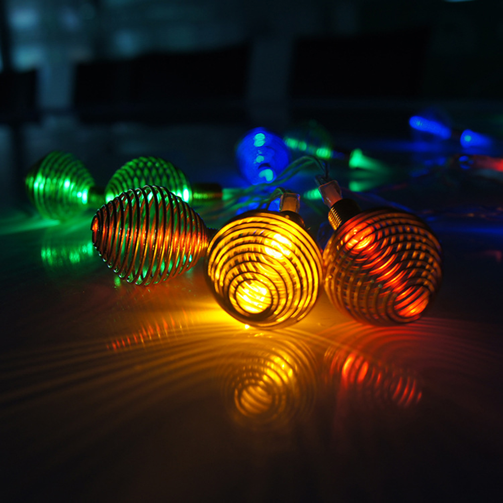 Battery Powered 2m 20led Rgb String Lights Clear Cable