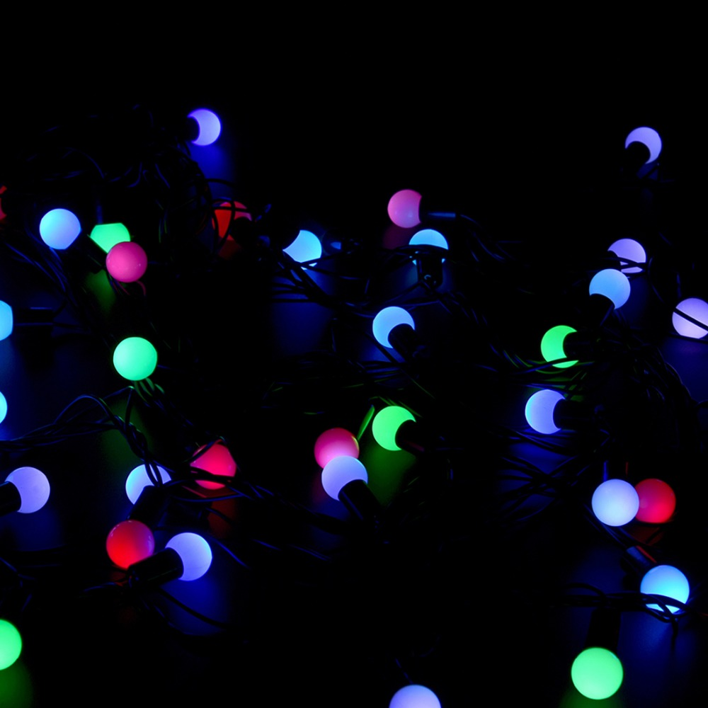 Ac 110v 5m Led String Lights With 50led Rgb Ball Led Color