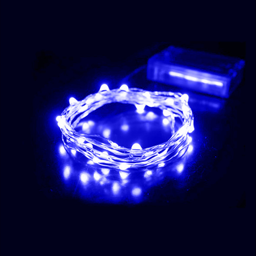 20 Light String Christmas Lights : 2M 20 led battery led string light 3pcs AA Battery Operated Fairy Party Wedding Christmas ...