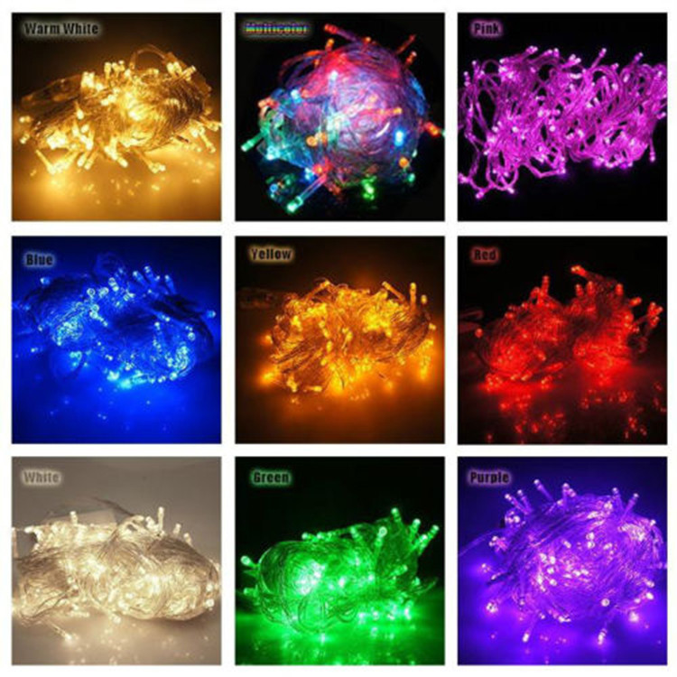 Waterproof 10m 100 Led Rgb String Fairy Light For