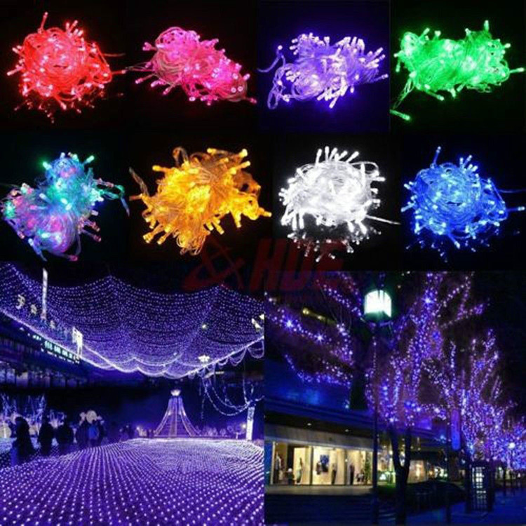 Waterproof 10M 100 LED RGB String Fairy Light For Christmas Xmas Party lamp Bulb Red Yellow Blue White Green Pink Purple White