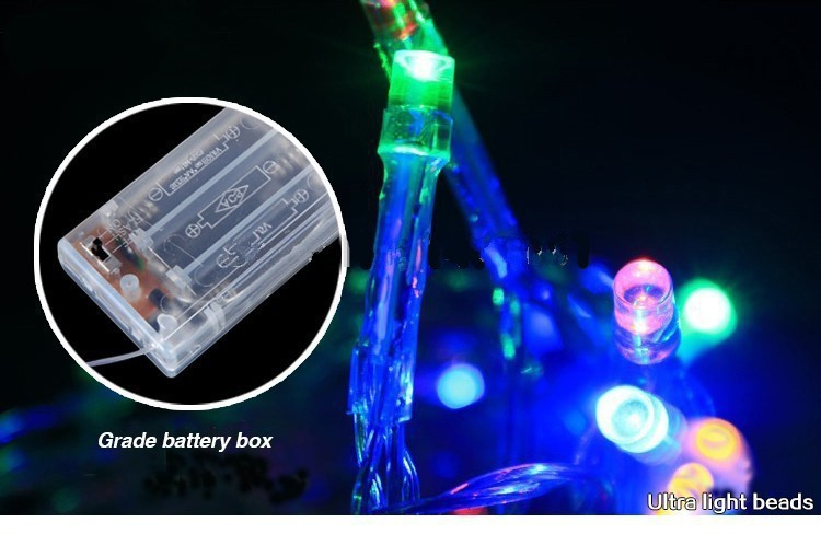 Outdoor Festival Christmas Decoration LED String Battery Operated PVC Tube Shape Fairy Lights 4M 40 LED