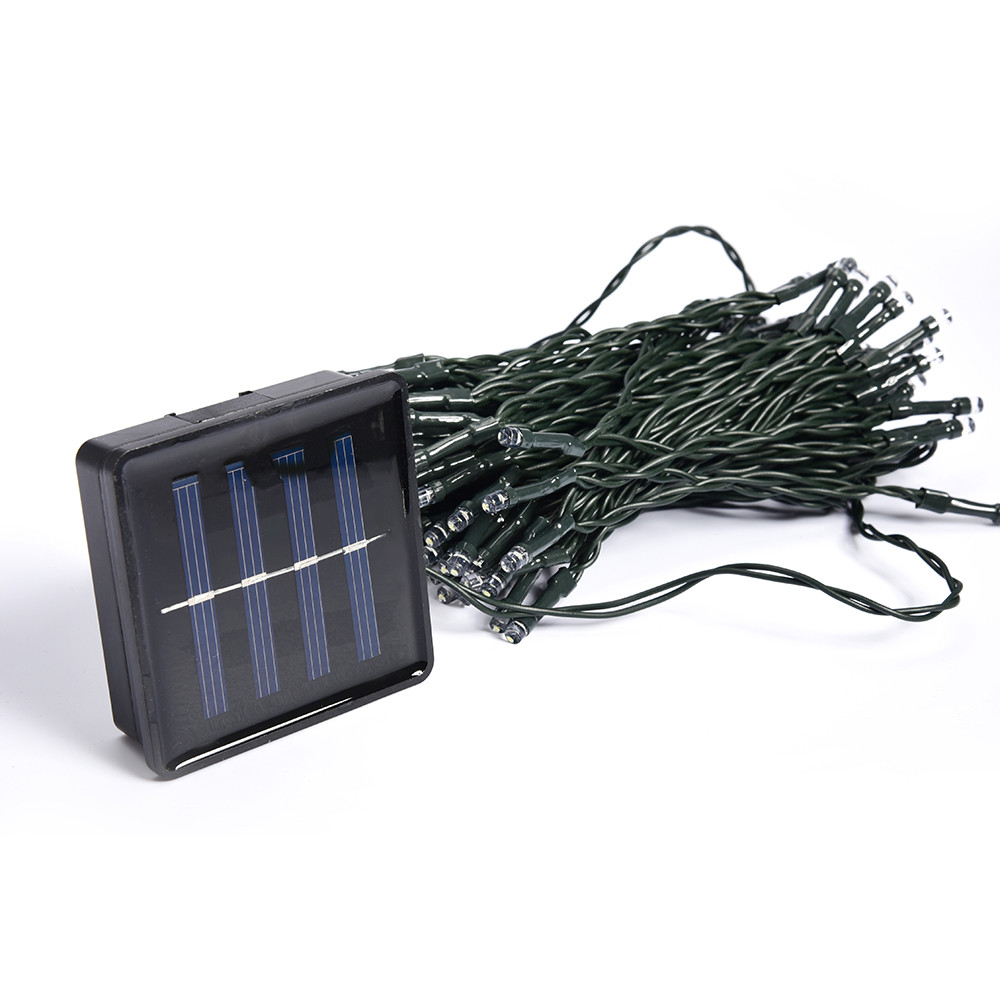 Blue White Warm White Multicolor 12M 100 LED Solar Lights String Fairy Outdoor Garden Waterproof ...