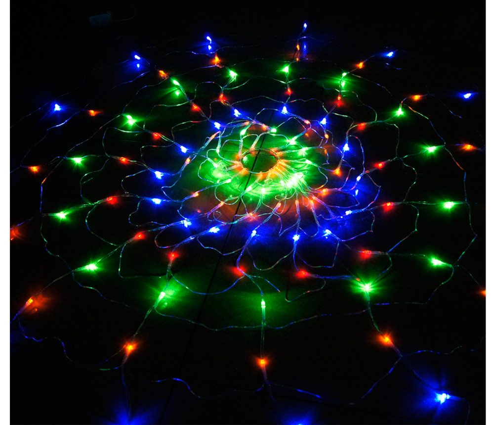 110v 220v colorful rgb spider led net light with 120 led christmas lights party wedding led. Black Bedroom Furniture Sets. Home Design Ideas