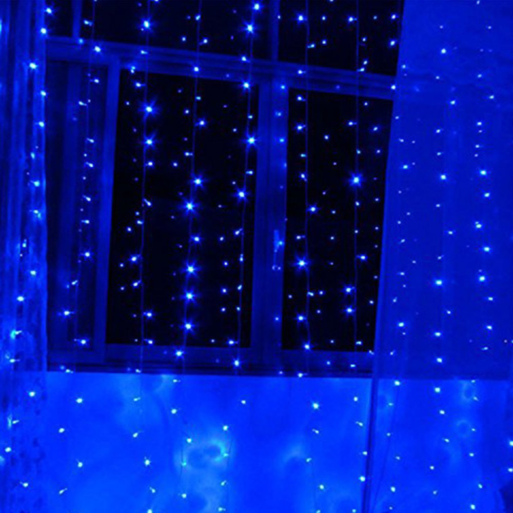 Christmas Outdoor Decoration 3M X 1M Curtain Icicle String Led Lights 220V New Year Garden Xmas Wedding Party