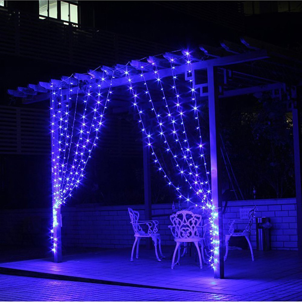 Christmas outdoor decoration 3m x 1m curtain icicle string for Led outdoor decorations