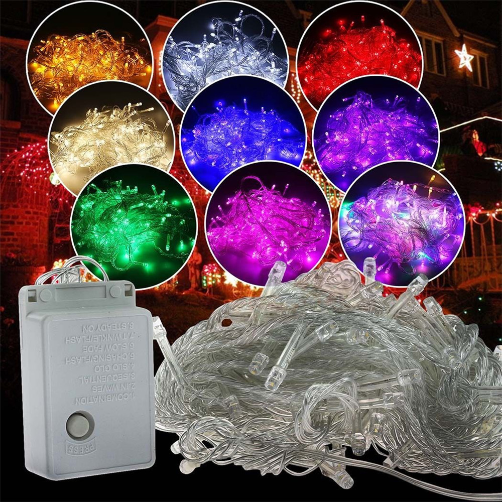 Outdoor Waterproof Led String Light 10M 100led AC110V or AC220V Led Christmas Light With Female Male connector