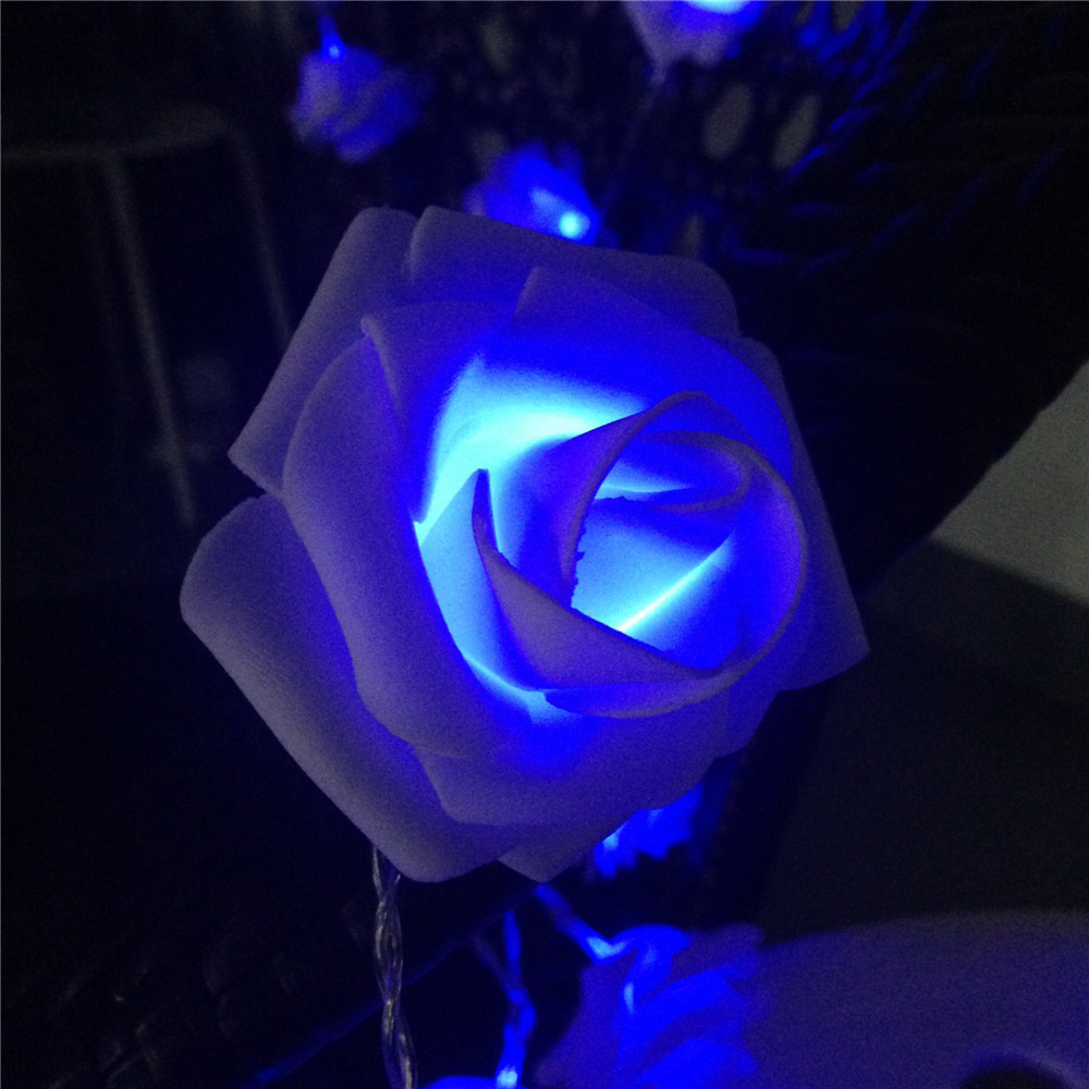 8 Color Night Light 20 X Led Novelty Rose Flower Fairy