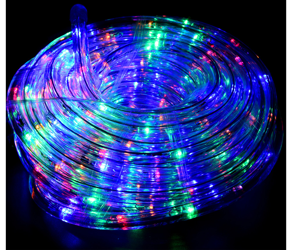 32.8ft LED Flexible Rope Light 220V String Kit for Home Garden Patio Shop Windows Christmas New Year Wedding Party Event