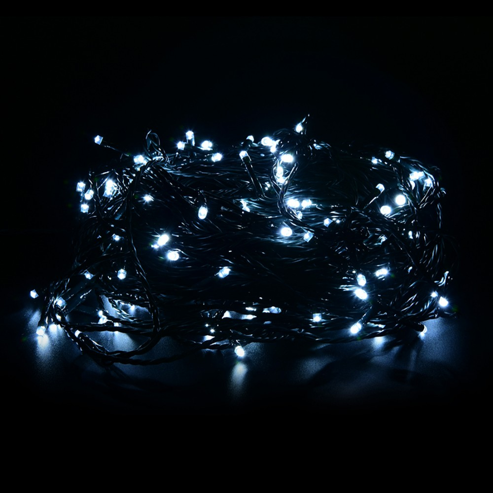 30m 200 LED Outdoor Christmas Fairy Lights Warm White Copper Wire LED String Lights Starry Light+Power Adapter(UK US EU AU Plug)