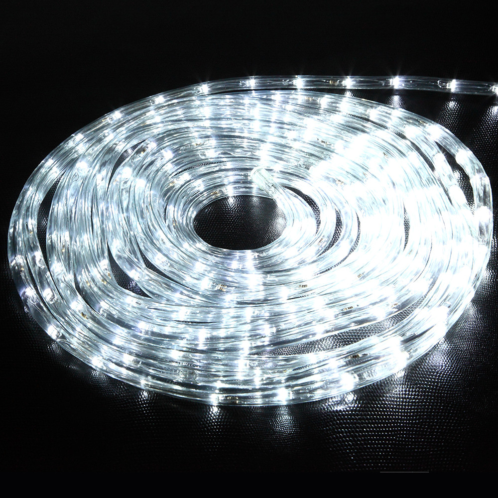 10meters 220V Flexible Rope White Led String For Holiday Garden Wedding Chrismas Decoration Lamp