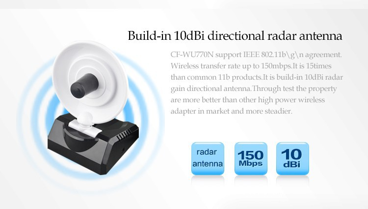 RALINK3070L 150M high power usb radar antenna wifi adapter wireless signal receiver emitter Comfast CF WU770N