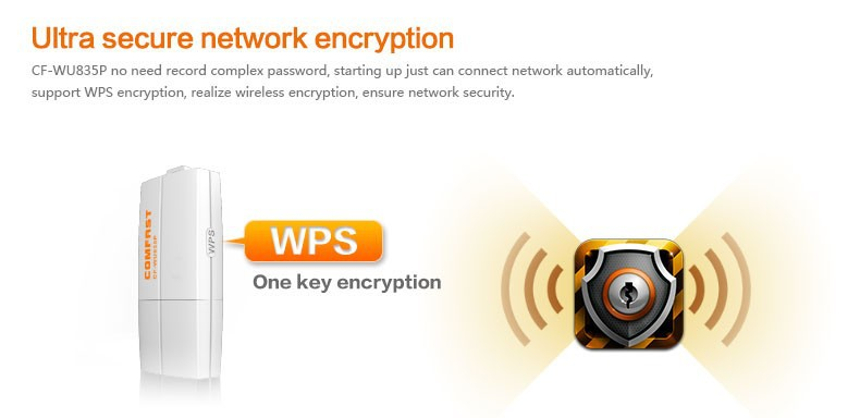 300Mbps 802.11n g b COMFAST CF WU835P 2T2R mini usb wifi adapter with WPS one key encryption