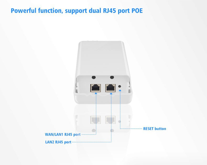 Support IP Camera Long Distance Coverage up to 5KM CPE 2.4Ghz WIFI Signal Booster Amplifier Network Bridge COMFAST CF E214N