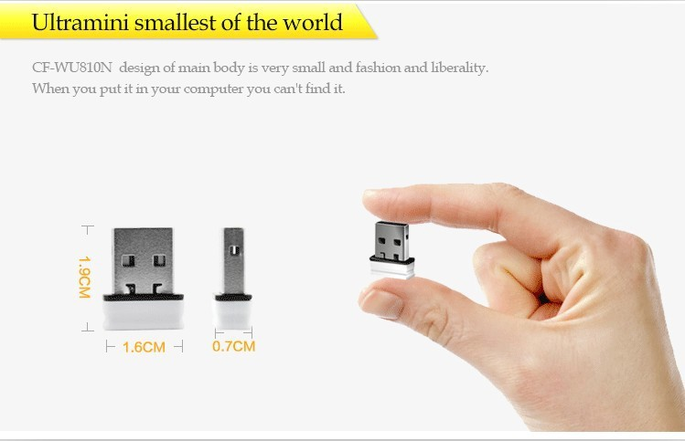 100pieces lot 150Mbps 802.11n g b CF WU810N V2.0 RTL 8188EUS mini usb wireless signal receiver emitter wifi adapter