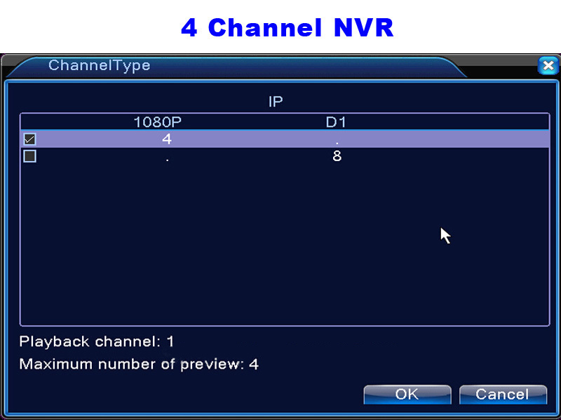 CCTV Mini HD NVR 4CH Video Recorder Onvif 8 Channel H 264
