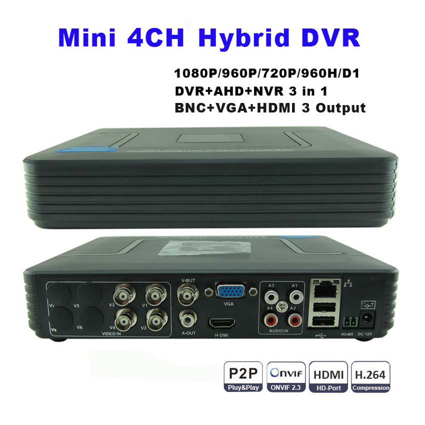 Full D1 H 264 Hdmi Security System Cctv Dvr 4 Channel Mini