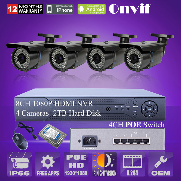 2 0mp 1080p Hd Varifocal 2 8 12mm Poe Ip Camera Outdoor