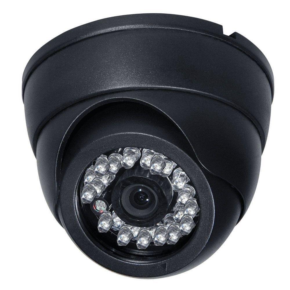 Black 1/3 inch CMOS CCTV Camera HD 700TVL 24 LED IR Cut