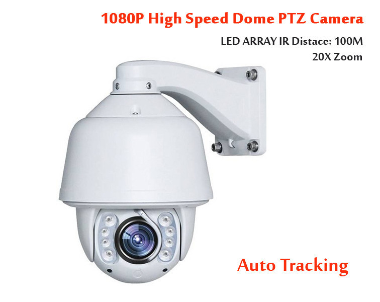 Sony 2.0Megapixel 20X Optical Zoom Auto Tracking HD IR 1080p 2MP PTZ IP Camera