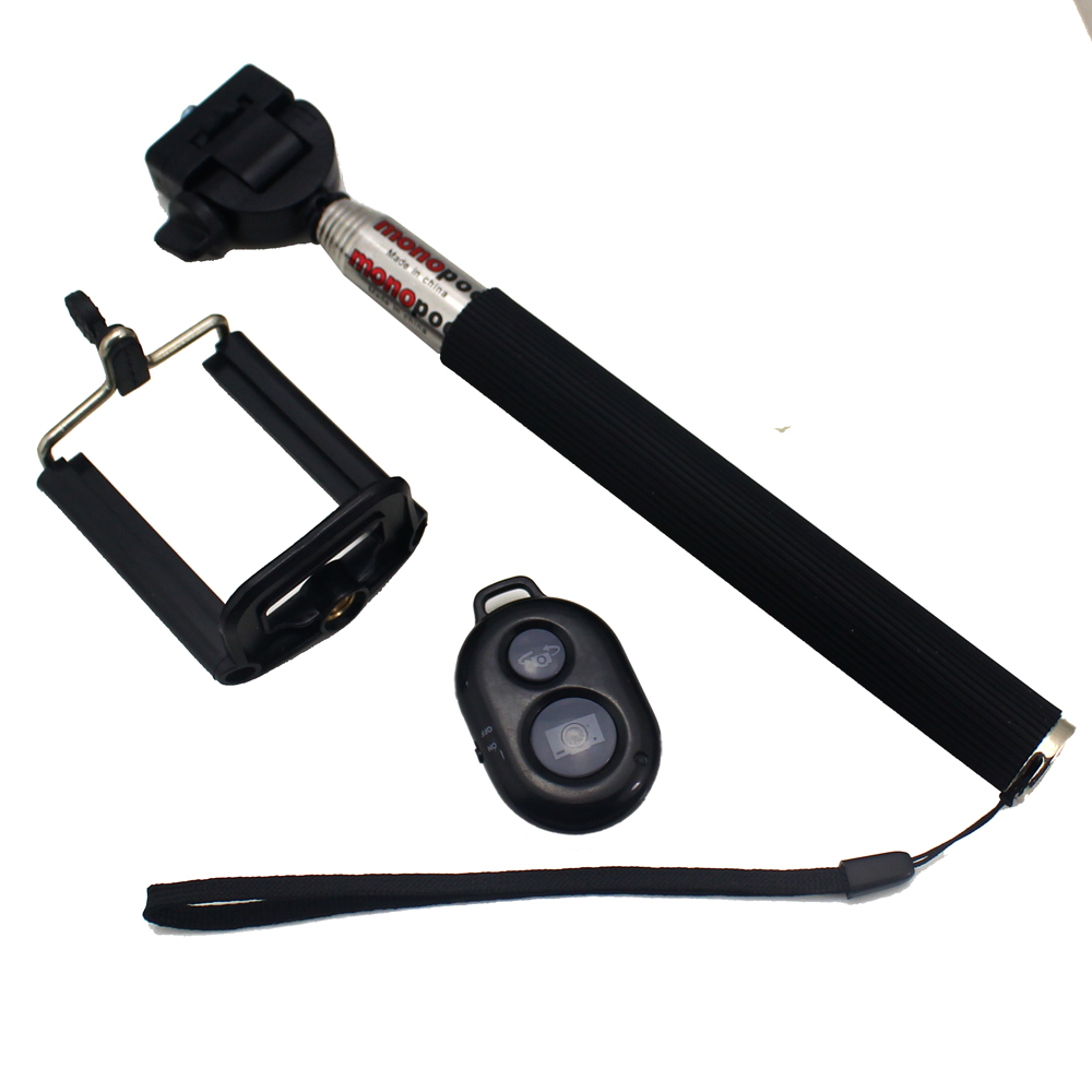 new arrive extendable handheld gopro selfie monopod with camera remote shutte. Black Bedroom Furniture Sets. Home Design Ideas