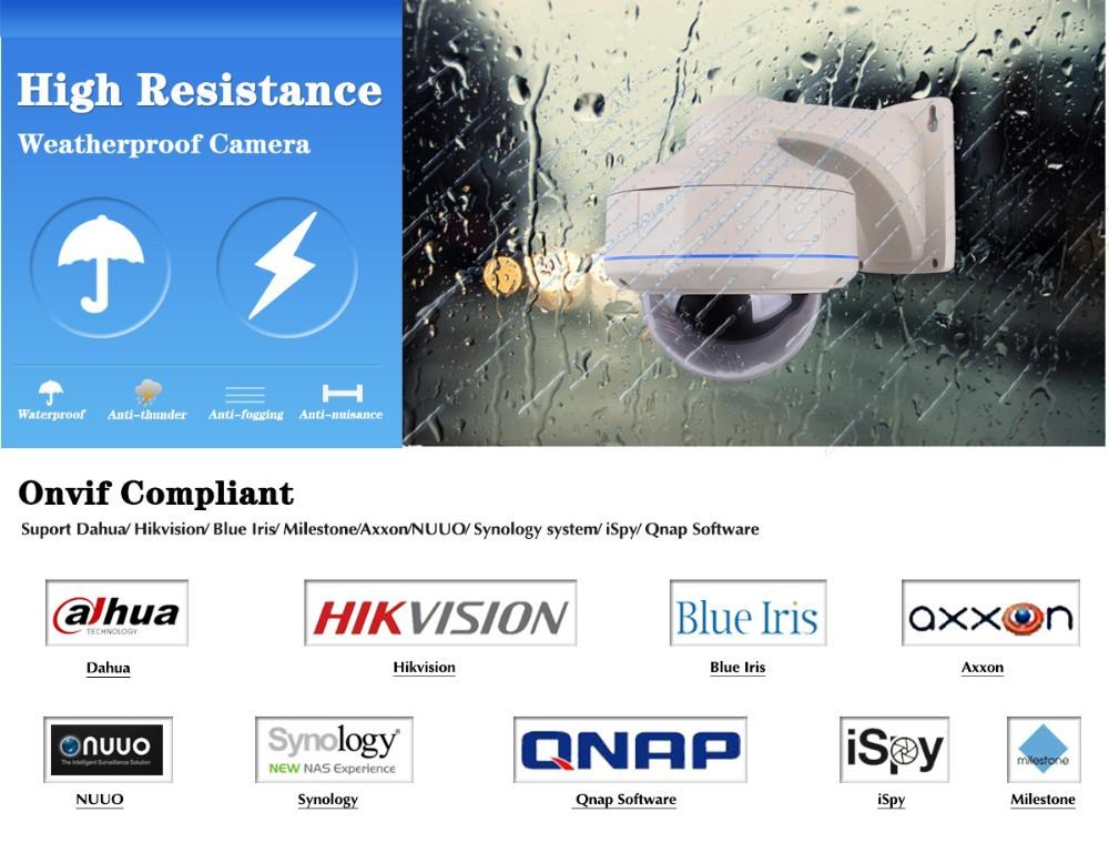1080p Full Hd Outdoor Waterproof Dome Ip Poe Camera