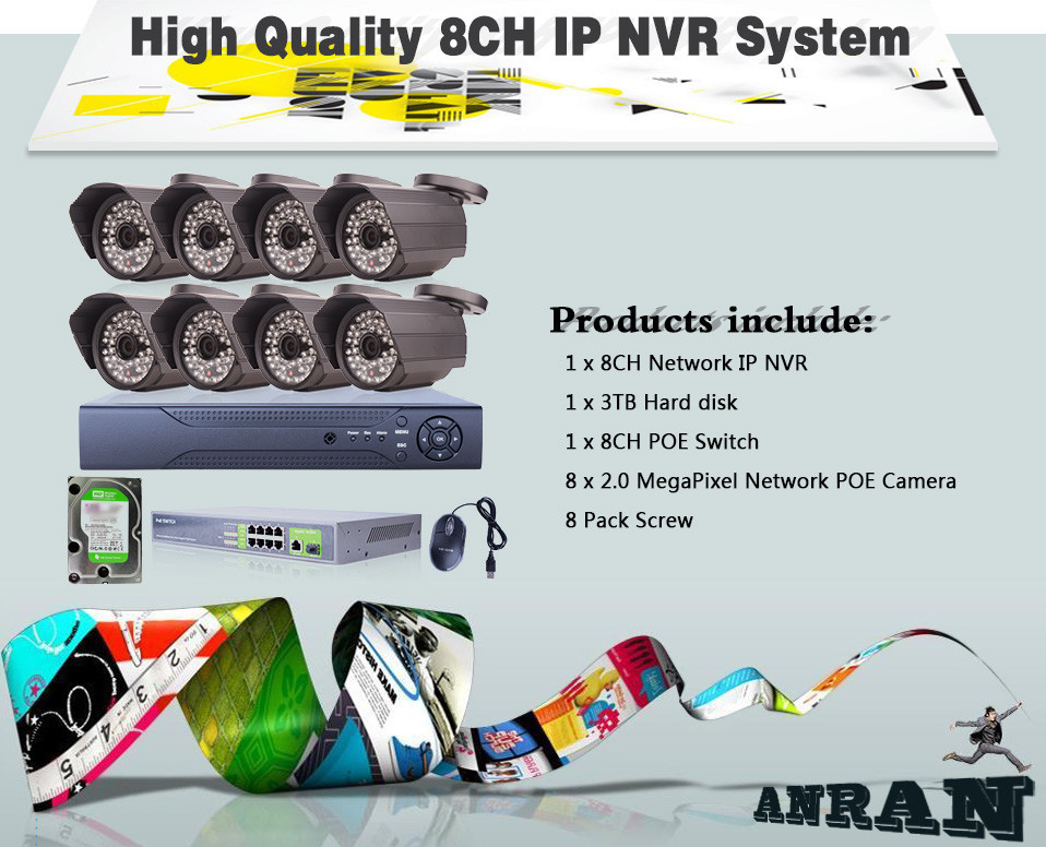 Anran Security Video Surveillance 8ch Nvr System Poe