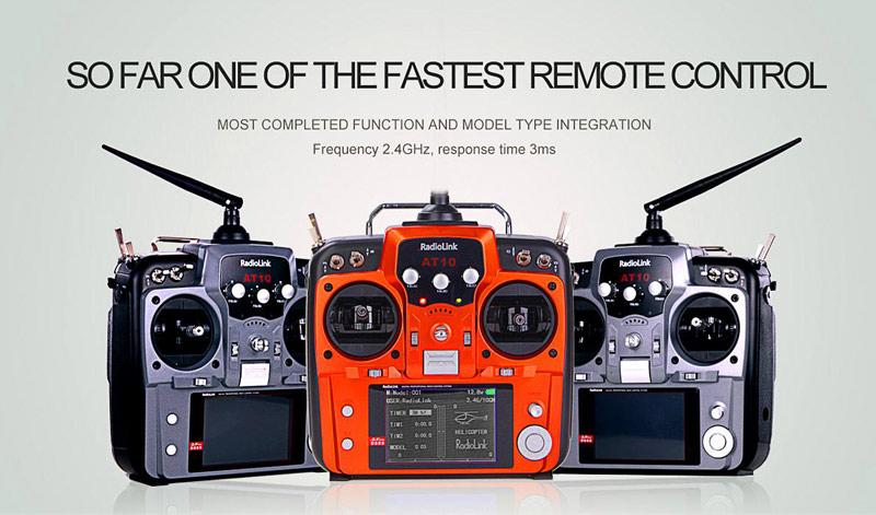 RadioLink AT10 New Orange Version 2 4G 10CH RC Transmitter