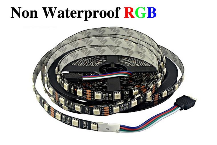 Waterproof Yellow 5M 300 Leds 3528 SMD LED Flexible Strip Light 12V DC Black PCB