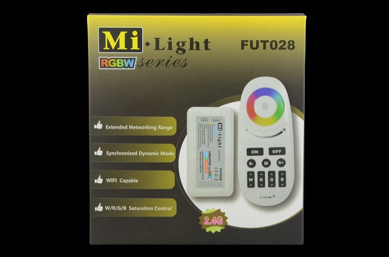 RGBW Controller 2.4G Mi light LED touch Remote control Dimmer 12 24V 24A for SMD 5050 RGBW RGBWW led strip light CR05
