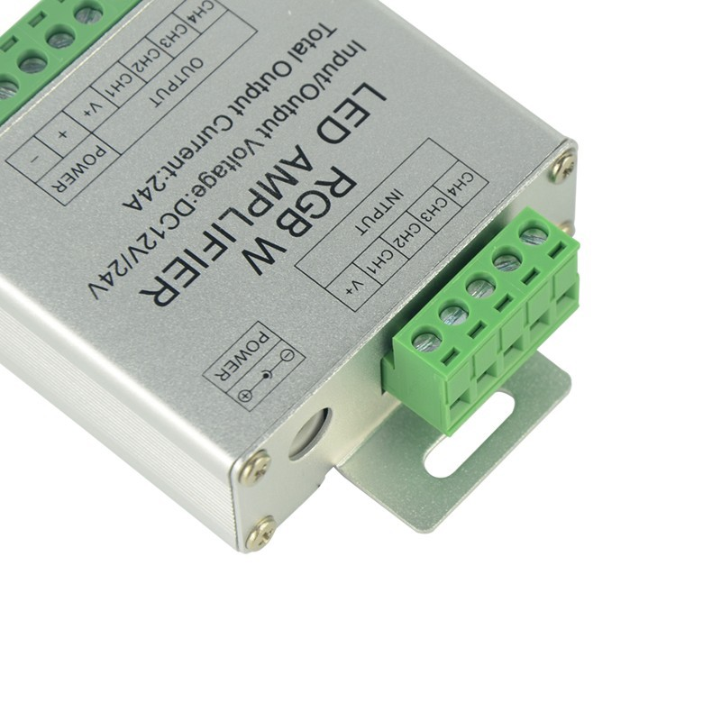 RGBW LED Amplifier Controller DC12 24V 24A 6A x 4 Channel For SMD 5050 RGBW Strip Lights CR20
