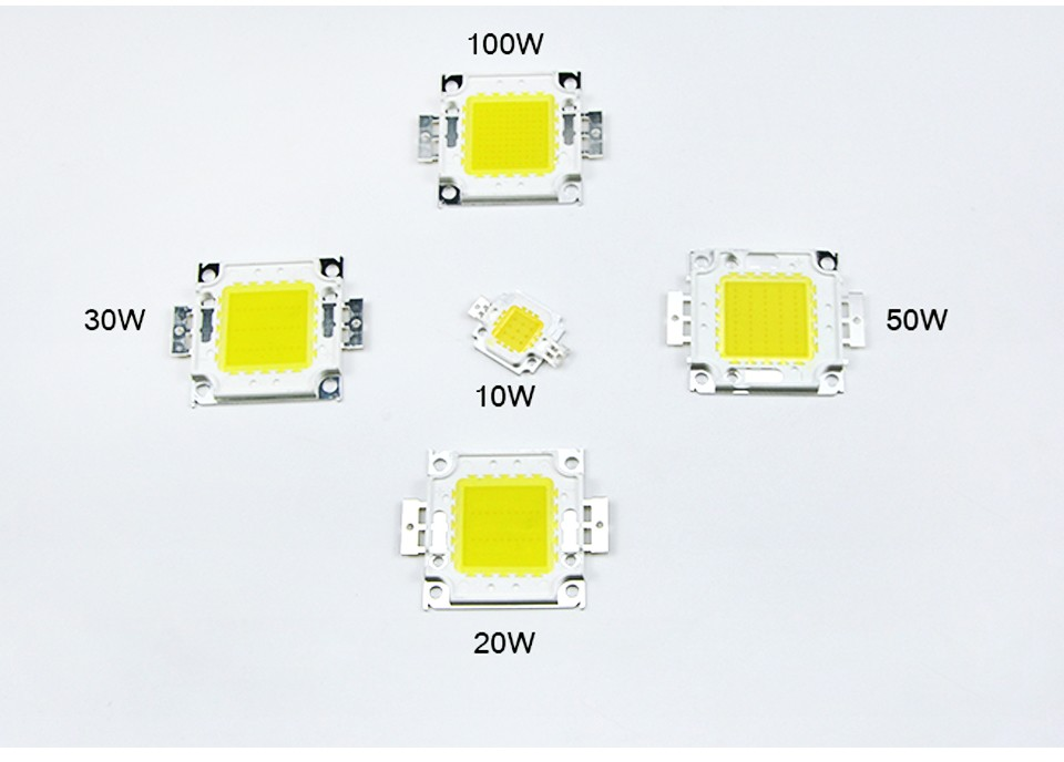 1Pcs 1W 3W LED Spotlight Bulb 10W 20W 30W 50W 100W High Power integrated LEDs lamp Chip COB SMD Diodes For Flood light