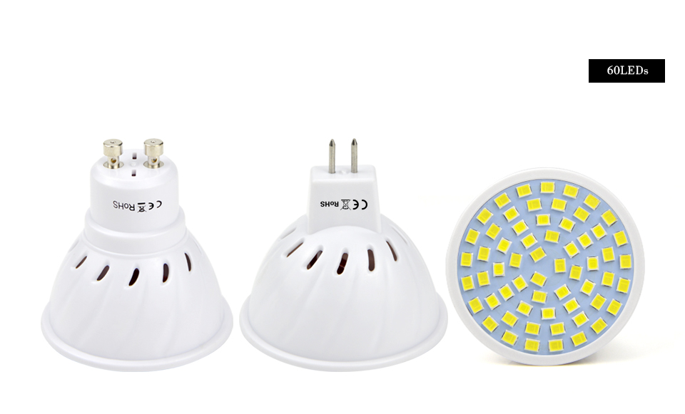 GU5.3 GU10 MR16 220V LED spotlight 3W 4W 5W 7W LED light Lamp LED bulb Downlight ceiling light Lamparas Warm white Lamp