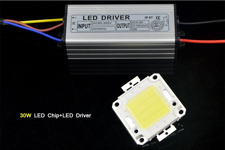 Hot Real Watt COB High Power 20W 30W 50W 220V 110V LED lamp Integrated Chip lamp