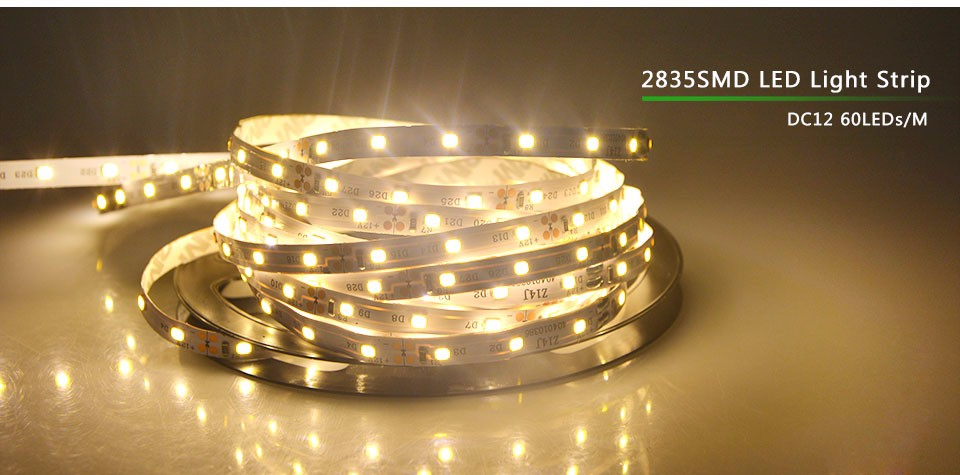 3528 2835 Smd 5m 300 Led Strip Rgb Decorative Light Tape