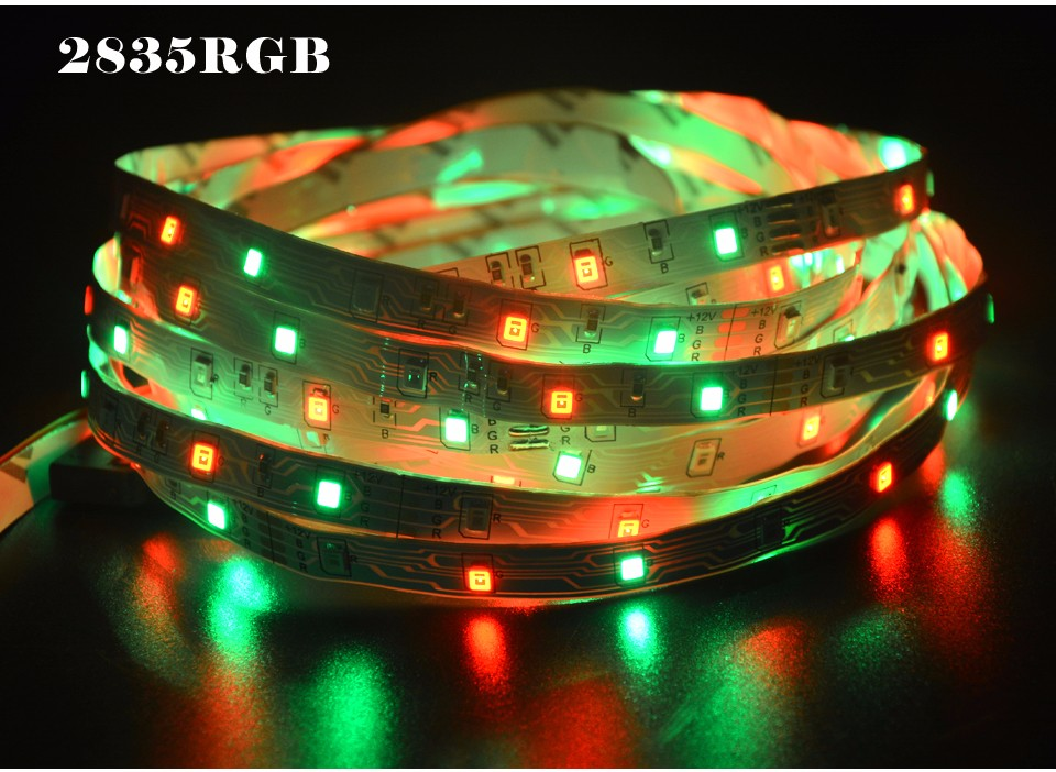 6 colors DC 12V 5M 300LEDs 2835 SMD More Brighter Than 3528 3014 SMD RGB LED Strip light Bar Lamp Lower Price than 5050 5630 SMD