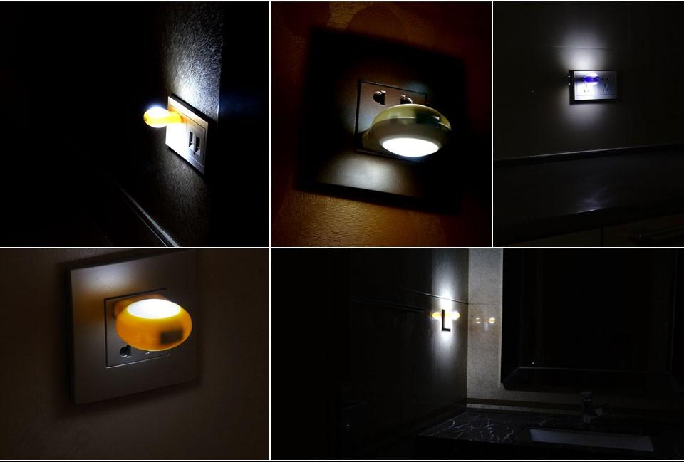 1pcs Cute Mini Led Night Lights Auto Sensor Smart Lighting