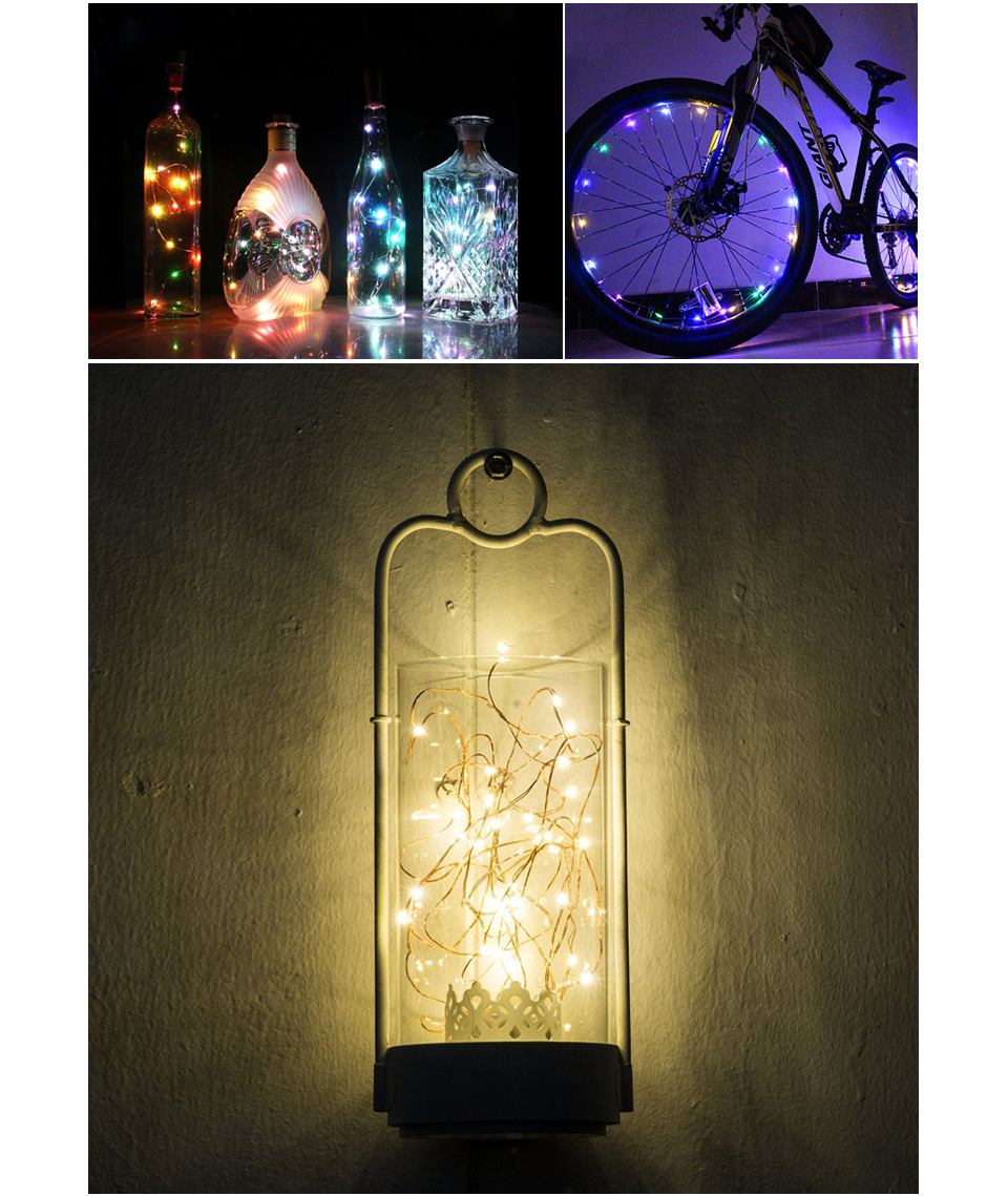 2m 5m Led Home Decoration Holiday Light Fairy String Lights Battery Operated Christmas Tree