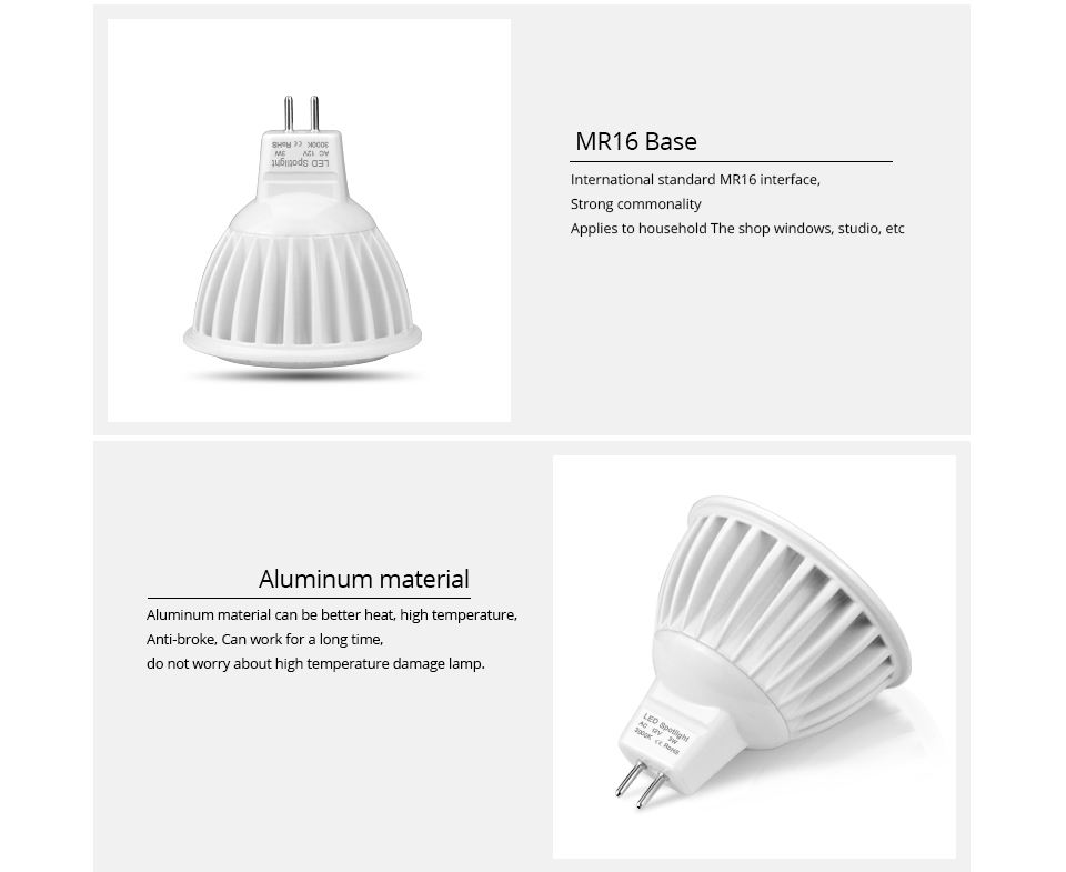 10Pcs LED light AC DC 12V LED bulb MR16 LED lamp 3W 5W 7W COB LED spotlight Indoor lighting Dimmable Spot light Aluminum