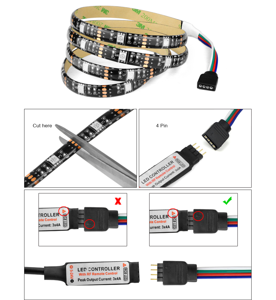 dc 5v 5050 smd rgb usb led strip light 1m 2m 3m 4m 5m usb led light ribbon tape usb charger led. Black Bedroom Furniture Sets. Home Design Ideas