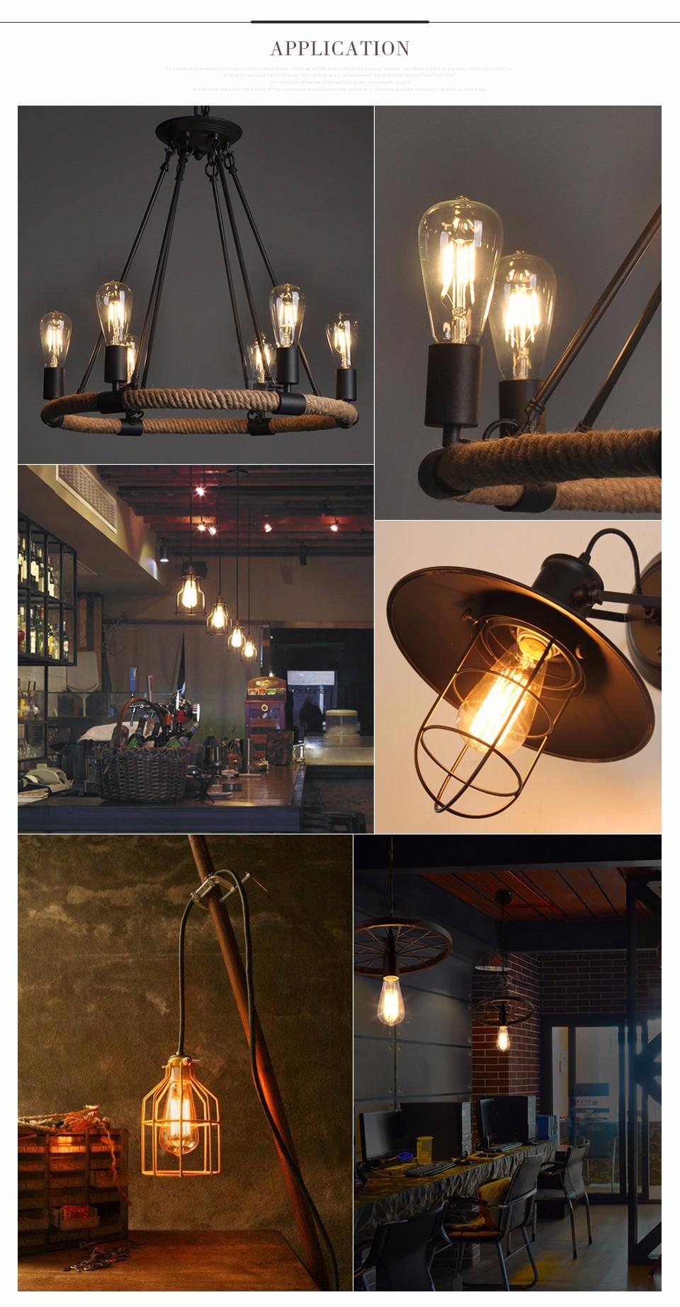 220v Retro Lamp Vintage Edison Bulb E27 Incandescent Bulb