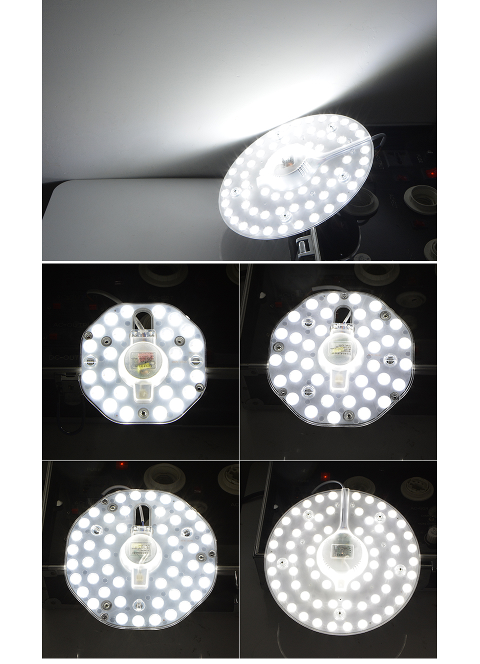 LED lamp light Source Module 220V 12W 18W 24W 32W Replace U O Type CFL ESL Tube Bulb 20W 30W 40W